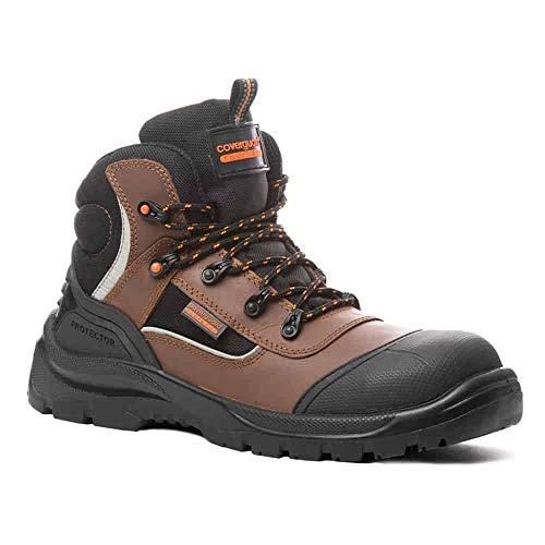 Coverguard Granite S3 SRC - Zapatos de seguridad (100% sin metal), Marrón (marrón), 47 EU