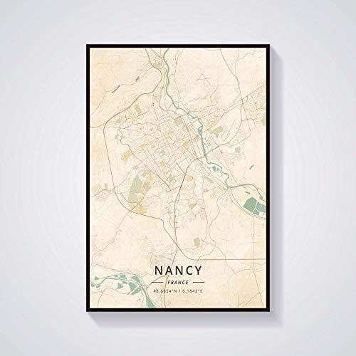 Rompecabezas De Madera 1000 Piezas - Nancy France City Mapa Retro Patrón Puzzle,para Adultos Y Niños,Adolescentes Adultos Pruebas De Estrés Desafío Juguetes Difíciles,300Pcs