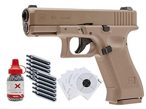 Glock 19X CO2 Blowback .177 BB Gun Kit, Tan air Pistol