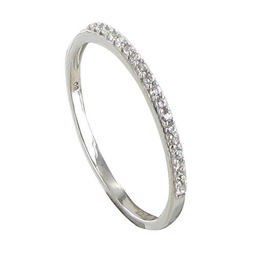 Schmuck Les Poulettes - Sterling Silber Ring Alliance Kristall Strass - grobe 58 (18.5)