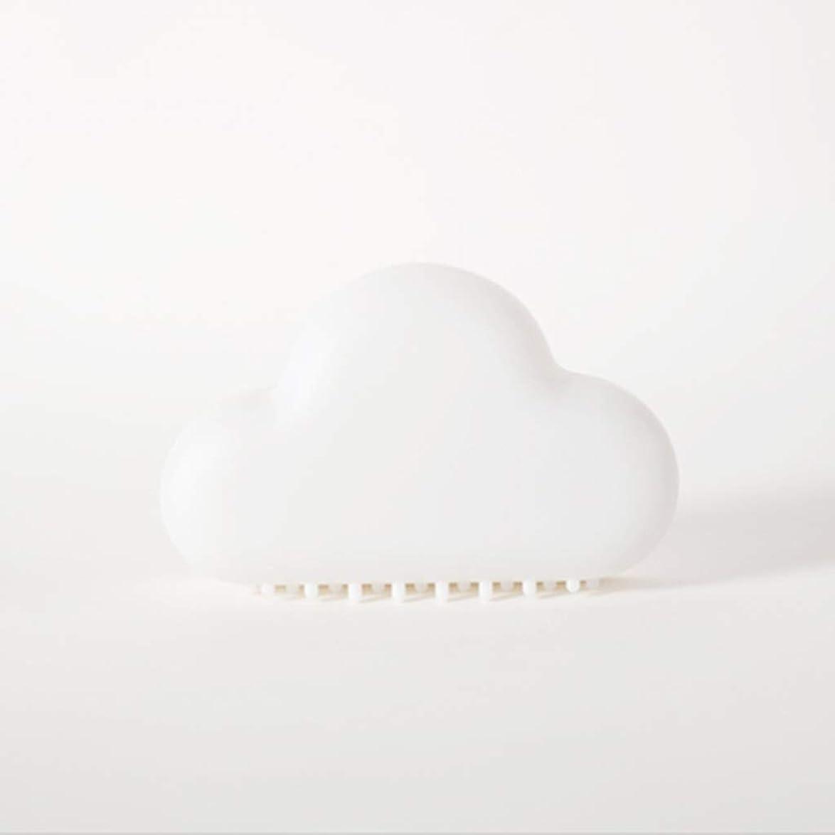 小数郵便価値のないLEDナイトライト LEDクラウドライト充電音声起動誘導寝室省エネベッドサイドウォールランプ LEDナイトライト (Color : White)