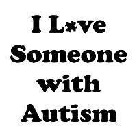 ステッカー 車 15X13.7CM I LOVE SOMEONE自閉症おかしい人格カーステッカーカースタイリングS8-0251 車すてっかー (Color Name : Black)