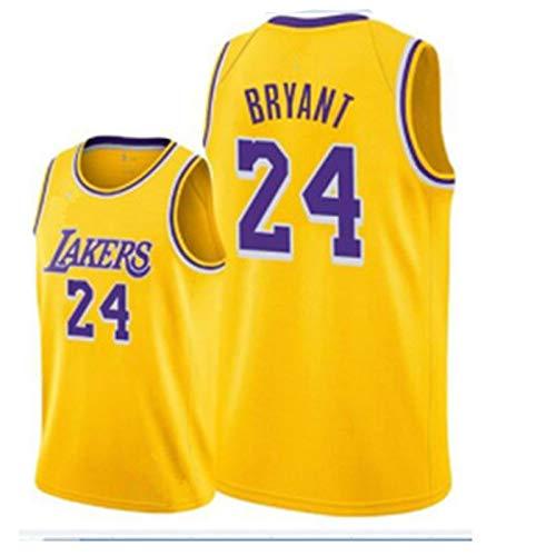 ZSPSHOP NBA Jersey Lakers LeBron James No. 23 Jersey Vintage bordado Jersey (Color: Amarillo 24, Talla XXXL)