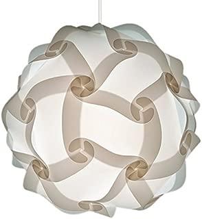 Modern Elegant White Pendant Hanging Light - Outdoor Use Waterproof Version for Patio Gazebo Garden Canopy