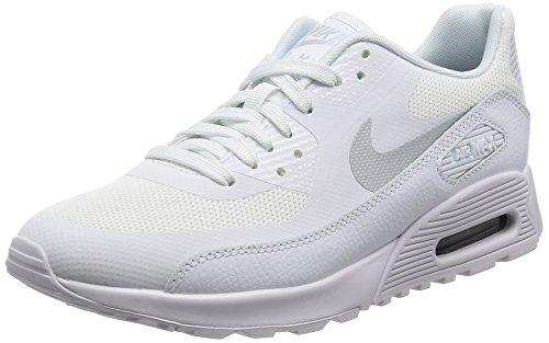 Nike W Air MAX 90 Ultra 2.0, Zapatillas de Gimnasia Mujer, Blanco (White/mtlc Platinum/White/Black), 38 EU