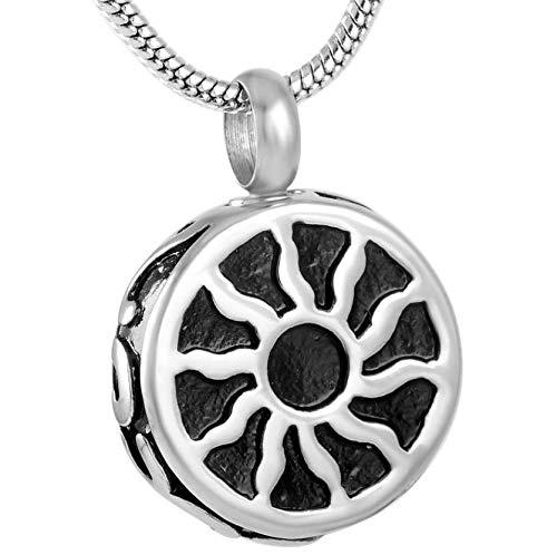 clockxm Cremation Urn Pendant Round Casket Urn for Pet/Human Ashes Urn Wholesale Cremation Urn Pendant Keepsake Memorial Jewelry