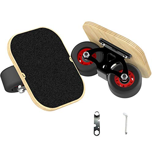 Hihey 1 Paar Skate Board Drift Board für Roller Road Drift Platte Anti-Skid Skateboard Sport Ahorn Pedal PU Räder Tragbare Roller Road Drift Skates