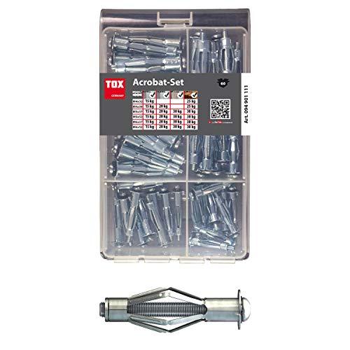 TOX Surtido de tacos huecos metálicos Acrobat Set 60 pz., 1 piezas, 094901111