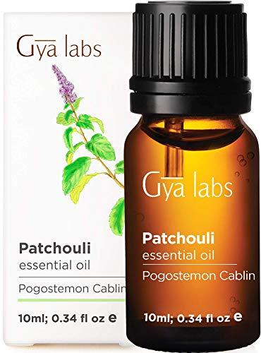 Ätherisches Patchouli-Öl von Gya Labs - Mood Balancer Raumduft für Entspannung und Geschmeidige Haut (10ml) - 100 % Reines Patchouli-Öl - Ätherische Öle für Aroma Diffuser und Äußerliche Anwendung