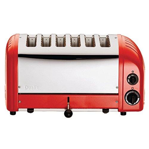 Dualit Toaster 60154 rot 6 Schlitze