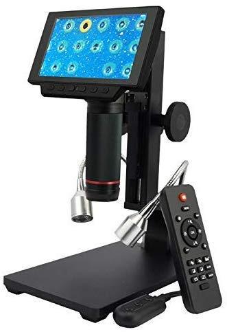 HYCQ Pantalla Digital de Alta resolución del microscopio óptico de Alto Rendimiento de 5 Pulgadas de Alta magnificación - por mecánico y electrónico de Piezas de precisión