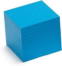 EAI Education Base Ten Thousand Cube: Blue Plastic