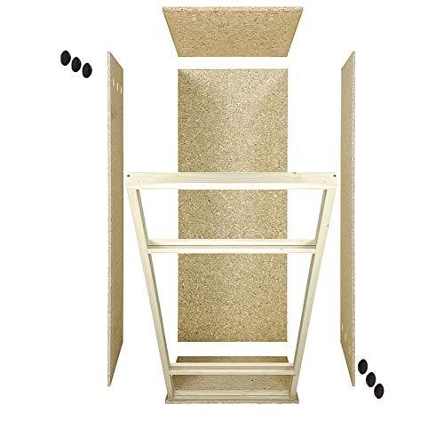 Repiterra® Hoch-Terrarium aus Holz 60cmx120cmx60cm mit Seitenbelüftung aus OSB Platten mit Floatglas - 3
