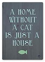 猫のいない家 金属板ブリキ看板警告サイン注意サイン表示パネル情報サイン金属安全サイン