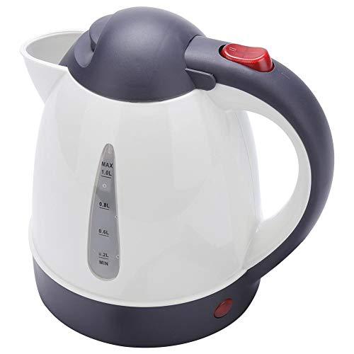 Hervidor eléctrico portátil Coche de viaje Camión Calentador de ebullición rápido Calentador de agua Botella para té Preparación de café 1000 ml 12V