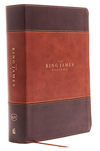 Compare Textbook Prices for KJV, The King James Study Bible, Leathersoft, Brown, Thumb Indexed, Red Letter, Full-Color Edition: Holy Bible, King James Version Large type / Large print Edition ISBN 9780718079918 by Thomas Nelson
