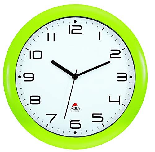ALBA Reloj de Cuarzo Clásico de Pared, Verde, 30 cm