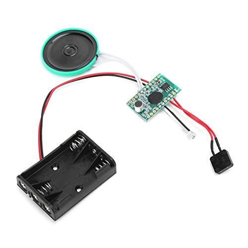 Socobeta Módulo de Audio Chip de grabación de Sonido de Voz repetible con Sensor de luz para Juguete de Tarjeta de Navidad