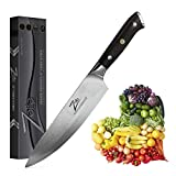 Zelite Infinity Chef Knife 8 Inch, Damascus Japanese AUS-10 Super Stainless Steel Blade Lasts a...