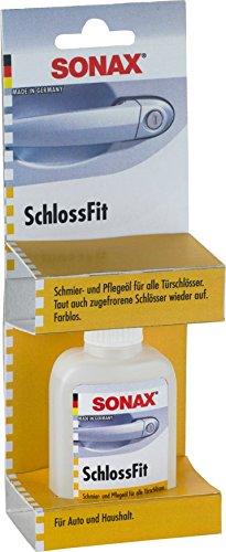 SONAX Schmier- & Pflegeöl Schlossfit (50ml) - für alle Türschlösser: für Auto und Haushalt. Taut auch zugefrorene Schlösser wieder auf! | Art-Nr. 03750000