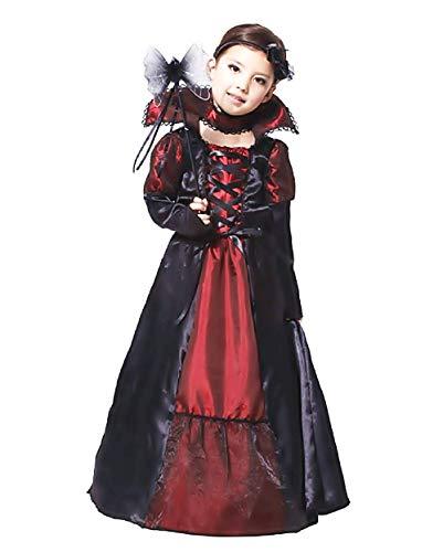 Taglia XL - 10-12 anni - Costume - Travestimento - Carnevale - Halloween - Chica Vampiro - Vampira - Vampirina - Dracula - Twilight - Colore Nero Bambina
