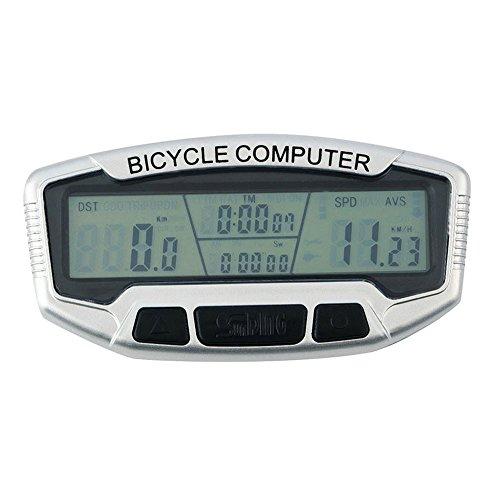 Fahrradcomputer, Ulanda-EU Verdrahtet Fahrradcomputer, Kilometerzähler, Automatische Wake-up Große LCD-Hintergrundbeleuchtung Motion Sensor Outdoor Radfahren Echtzeit Speed Track