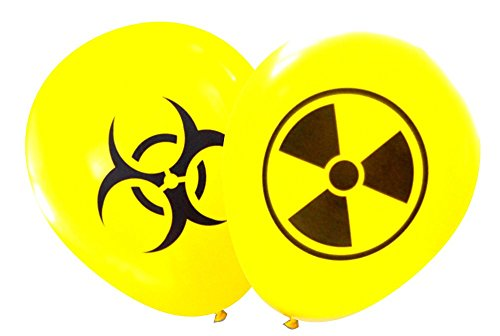 Nerdy Words Radioactive and Biohazard Latex Balloons (16 pcs) (Yellow)