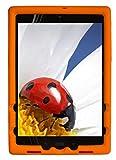 BobjGear Bobj Silikon-Hulle Heavy Duty Tasche für ASUS ZenPad Z10 (ZT500KL, P00I) and ZenPad 3S-10 (Z500M, P027) Schutzhulle (Orange)