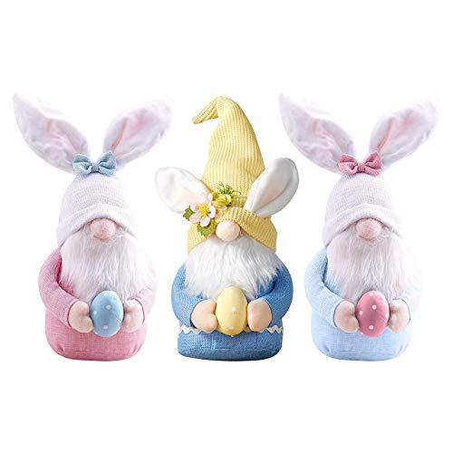 Ostern Deko Wichtel, Osterhasen Puppen Handgemachte Ostern GNOME Für Kinder Home Party Dekoration, Ostern Gnom Plüschpuppe Dekorationen (3pcs)