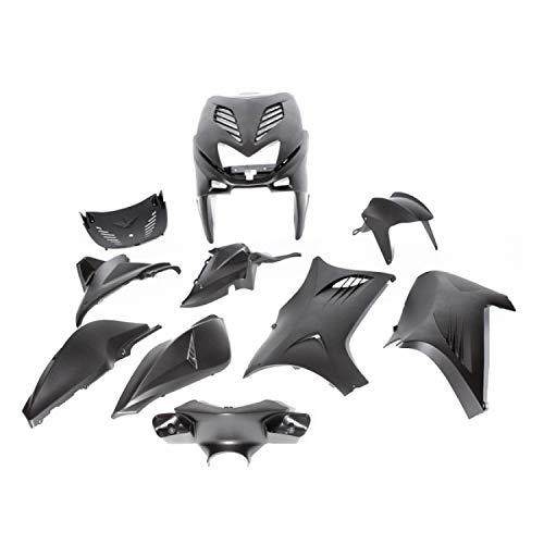 Verkleidungsset 11 Teilig, DMP für Yamaha Aerox, MBK Nitro, matt schwarz