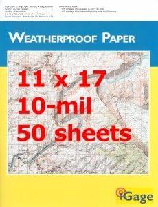 iGage unisex Weatherproof Paper 11