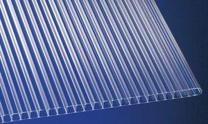 Polycarbonat Stegplatten Hohlkammerplatten klar 6000 x 1050 x 10 mm