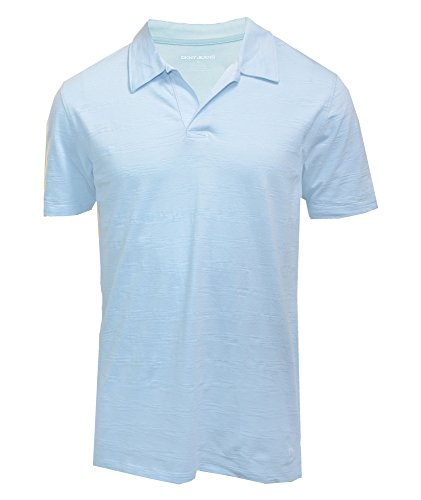 DKNY Jeans Mens Short Sleeve Polo Shirt M Light Blue