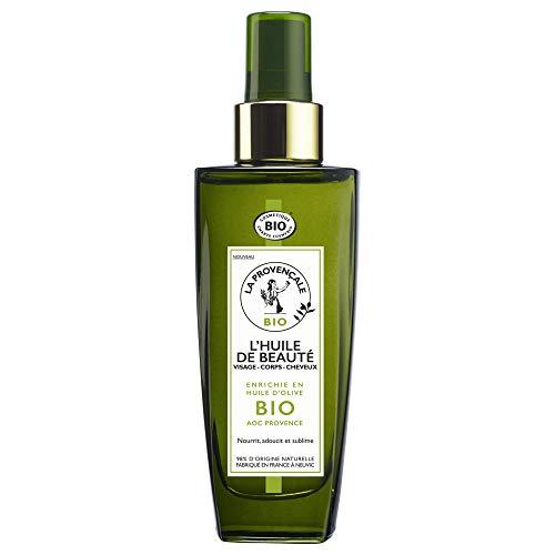 La Provençale – L'Huile de Beauté Visage Corps Cheveux – Soin Certifié Bio – Huile d'Olive Bio AOC Provence – Pour Tous Types de Cheveux et de Peaux, Même Sensibles – 100 ml