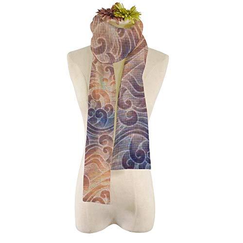 XIAHAILE ,Bufanda larga de moda para mujer Chal de abrigo precioso Elegante clásico-Salmón rosa estrella de mar decorativo