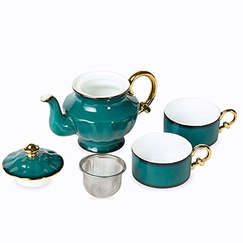 Check Out This Tea set Bone China Tea Teapot British Style Home Office Glazed 2 Cup Tea And Coffee 4...