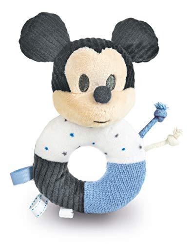 Clementoni 17339 - Disney Baby Mickey Maraca sonajero Suave Juguete para niños pequeños - Apto para niños de 0 Meses y Mayores, Lavable a máquina, Multicolor