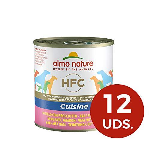 almo nature HFC Cuisine - Vitello e Prosciutto - Umido Cane 100% Naturale - 12x290 g lattina