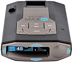 ESCORT MAX360C Laser Radar Detector - WiFi and Bluetooth Enabled, 360° Protection, Extreme Long Range, Voice Alerts, OLED Display, Escort Live
