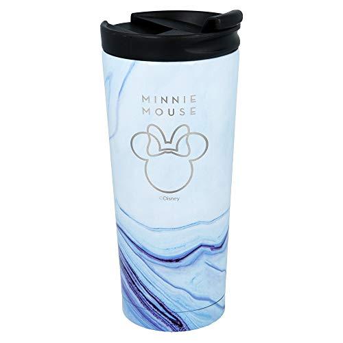 Stor Minnie Mouse (Disney) | Termo Café para Llevar - Taza Termica de Viaje Acero Inoxidable 425 ml | Vaso Hermetico para Te o Café sin BPA con Tapa Antigoteo