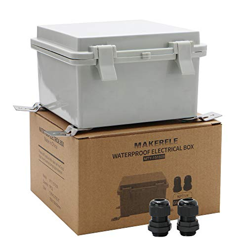 MAKERELE Weatherproof Outdoor Box Electrical with Wall Bracket 5.9