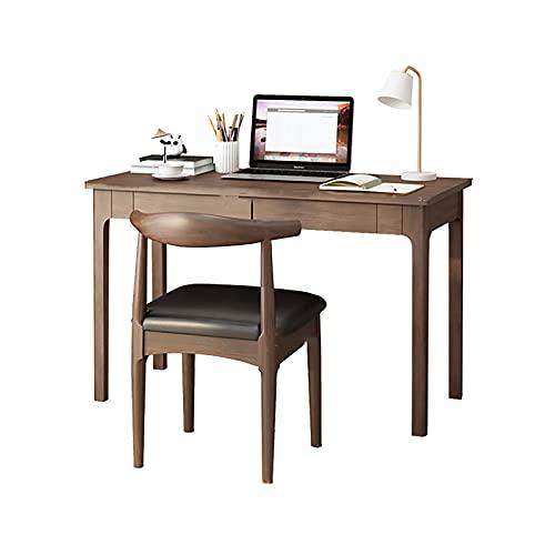 Escritorio de Computadora Estudio Mesa de Escritura Cajones de Almacenamiento Espacio Pequeño Marco de Madera Ahorro Estilo Simple Moderno Uso de Oficina en casa