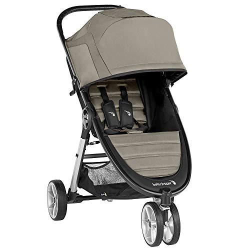 Baby Jogger City Mini 2 3-Rad Kinderwagen | leichter, zusammenklappbar und kompakt | Sepia (beige)
