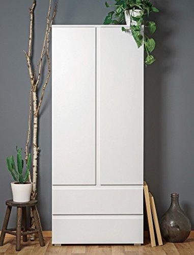 """Eternity-Möbel Kleiderschrank Noun 7\"""" Mehrzweckschrank Schrank in 80 x 191 x 40 cm Weiß"""