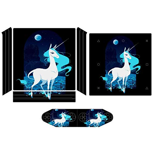 Amalthea Greek Mythology The Last Unicorn Compatible with PS4 Pro controller and console skin sticker protective cover wireless/wired gamepad controller