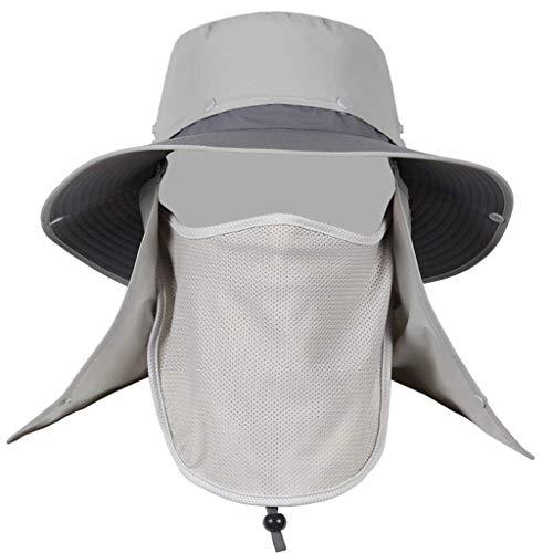 TWDYC GLUTINOUS Sombrero de Verano Safari de ala Ancha al Aire Libre con Solapa de Cuello y protección Solar (tamaño: 50-60 cm (Color : B)