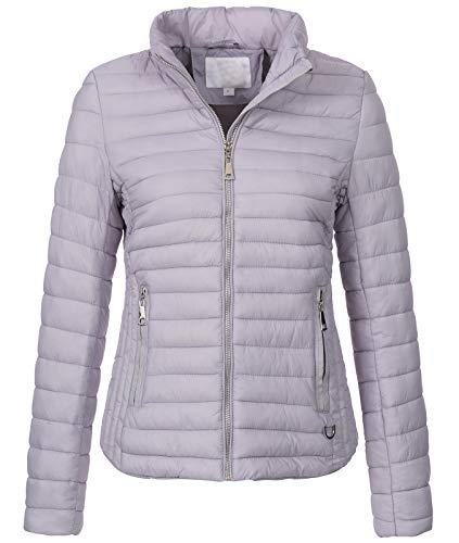 Rock Creek Damen Steppjacke Übergangsjacke Leicht Outdoorjacke Damenjacke Frauen Jacken Gesteppte Jacken Herbstjacke Jacke Weste D-427 Hellgrau S