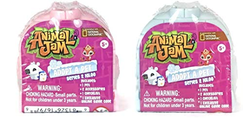 Set of 2 Animal Jam Series 2 Igloo Adopt a Pet Mystery Houses (Colors May Vary)