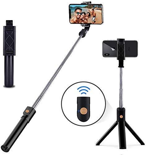 Selfie Palo sostenedor del trípode del soporte extensible con Bluetooth remoto compatible con Samsung Galaxy S7 / 7 Plus / S8 / 8 más / S9 / 9 Plus iOS y Android Celular / Teléfono X / Teléfono 8/8 Pl