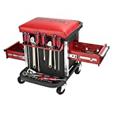 Garage Glider Rolling Tool Chest Seat(Tools Not Included)
